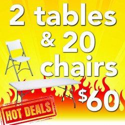 Z20 2 Tables & 20 Chairs