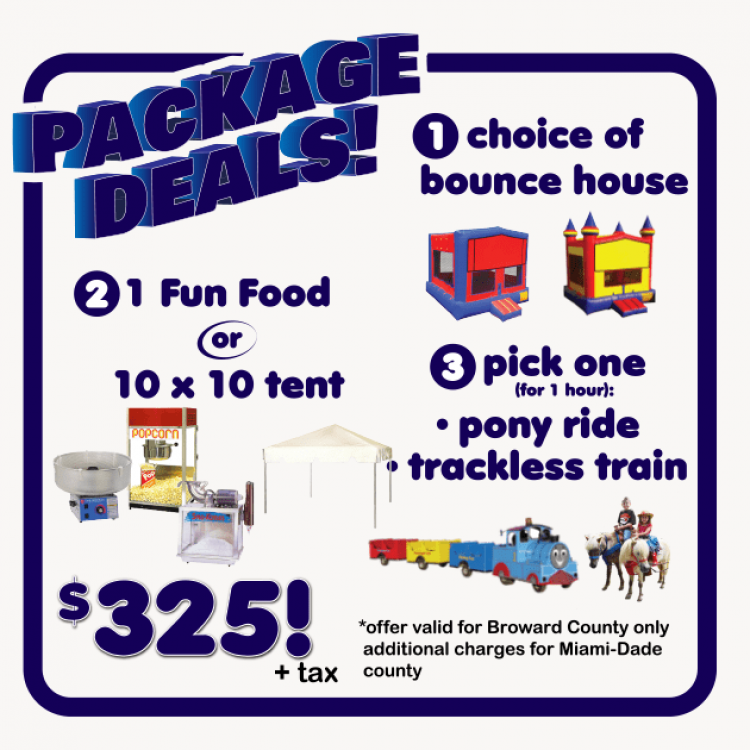 bounce house package deals miami