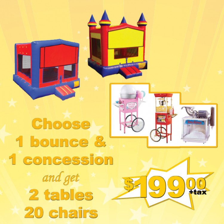 bounce house package miami fl
